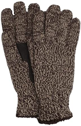 Isotoner Women's Marled Knit Glove, Choclate, One Size