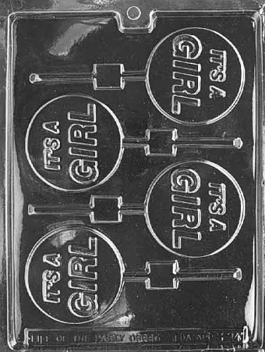IT'S A GIRL LOLLY Baby Candy Mold Chocolate