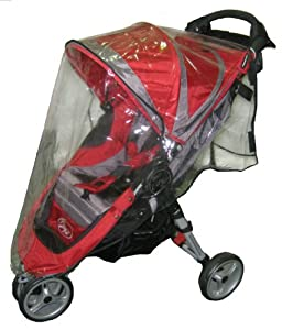 Sashas Rain and Wind Cover for Baby Jogger City Mini Single Stroller