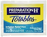 Preparation H Hemorrhoidal with Witch Hazel Wipes, Totables Irritation Relief, 10 Individual Wipes (Pack of 2)