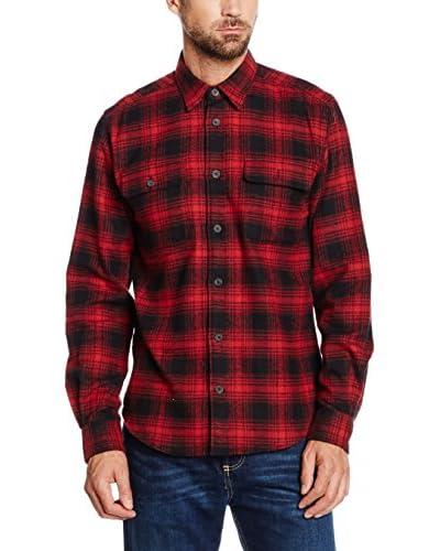 Cortefiel Camisa Hombre Rojo / Negro