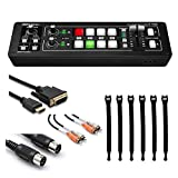 Roland V-1HD HD Video Switcher + Dual RCA Cable + Speed HDMI Cable + Black MIDI Cable + Strapeez, Black + Ultimate Accessory Bundle