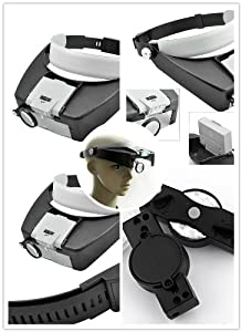 Amazon Com 10x Lighted Magnifying Glass Headset Dual Led