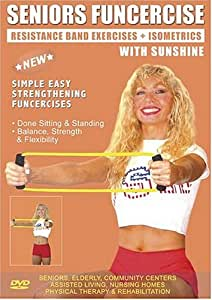 Senior Resistance Bands Exercise DVD for Strength & Fitness ( Includes 2 Resistance Bands) Easy Pilates Resistance bands exercises for Seniors, Elderly, Rehab, Good also for Over weight and Obese Exercise DVD.