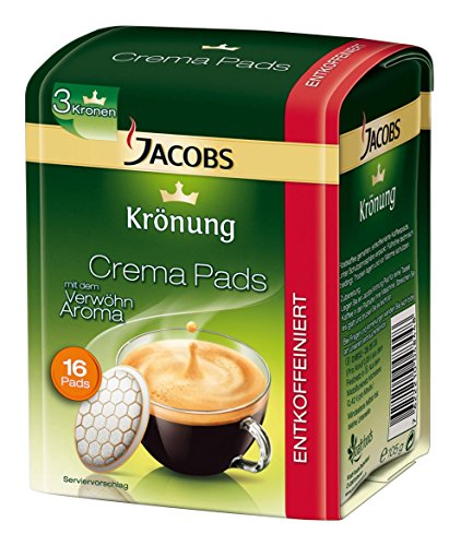 Senseo Jacobs Krönung Caffè Decaf - Senseo Coffee Pods = 16 Count (Pack Of 6)