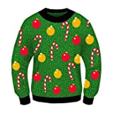 Christmas Sweater-- Ugly Christmas Sweater!!-- Christmas Costume-- Choose Your Style!! (Xlarge 48, Ornaments)