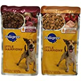 Pedigree Little Champions Grilled Flavors And Sauce, Beef And Chicken Combo, 5.3-Ounce Pouches (8 Pouches)