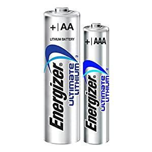 Energizer Ultimate Lithium Long Lasting Leakproof Disposable Batteries