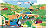 RoomMates YH1418M Thomas the Train Prepasted Chair Rail Mural, 6 by 10-Foot