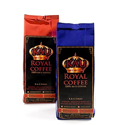 Ka'u Royal - 100% Big Island of Hawaii Ka'u Coffee - Whole Bean - Medium Roast (8 ounce)