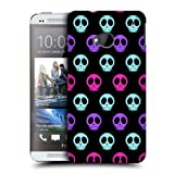 Head Case Blue Pink And Purple Neon Skull Pattern Back Case Cover For Htc One