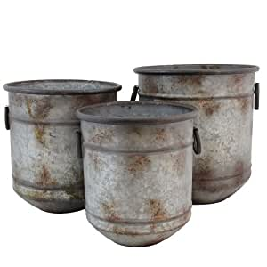 IMPORT Collection TIC 23-300 Clayton Planters, Set of 3