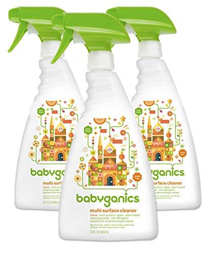 Babyganics Multi Surface Cleaner, Citrus, 32oz Spray Bottle, (Pack of 3) (Babyganics Multi Surface Cleaner compare prices)