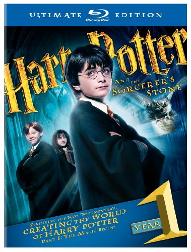 Cover art for  Harry Potter and the Sorcerer's Stone (Three-Disc Ultimate Edition) [Blu-ray]