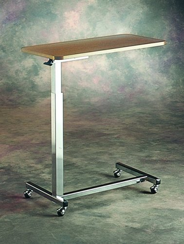 "Invacare Auto-Touch Overbed Table 29"" - 45""/Base: 15.5""W x 26""L/.75""H x 15""W x 30""L"