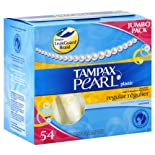 Tampax Pearl Tampons, Plastic, Regular Absorbency, Unscented, 20 ct.