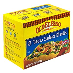 Amazon.com : Old El Paso Salad Taco Shells, 6.5-Ounce Boxes (Pack of