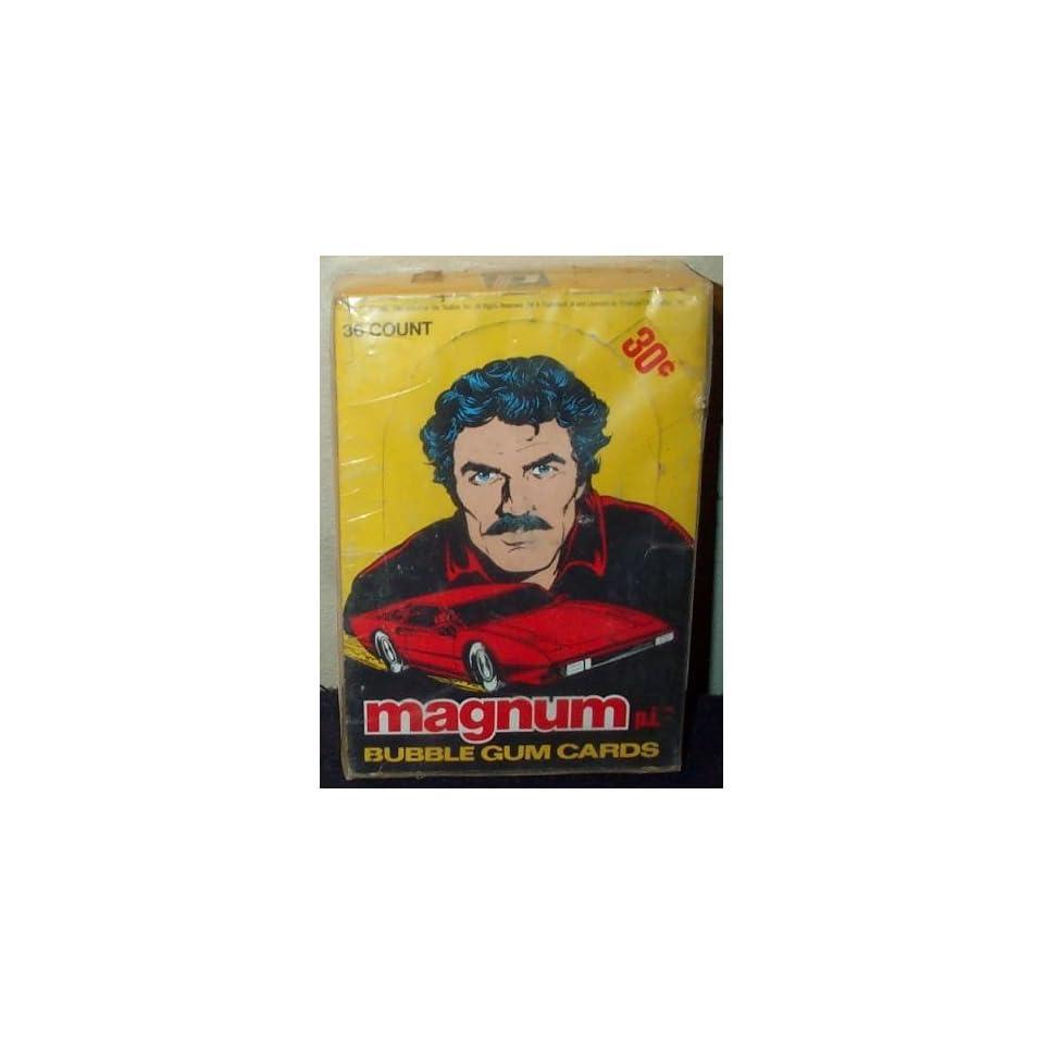 Magnum P.I. Trading Cards & Gum Box  36 Count