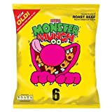Monster Munch Mega Roast Beef Flavour Baked Corn Snack 18x6 Pack