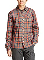 HAGLOFS Camisa Hombre Astral LS (Marrón / Naranja)
