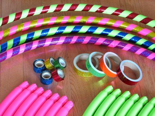 """Sports Hoop® - DIY Hoop™ 2B - 1.8lb (Dia.40.5"""") Large, Exercise Hula Hoop. Pink. 2 tapes included"""