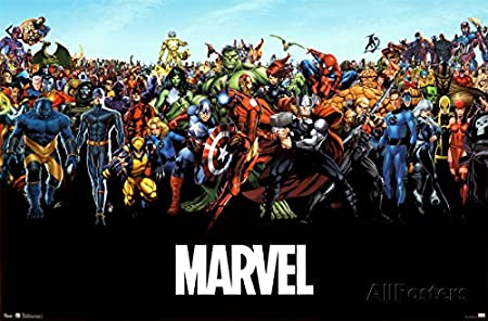 マーベルコミックスユニバースコミックポスター印刷 34x22 平行輸入