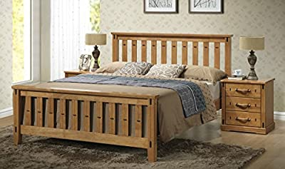 Sofia Shaker Style Wooden Bed Frame - available in double and kingsize