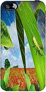 Snoogg Grasshopper In The Rain 2637 Designer Protective Back Case Cover Forap...