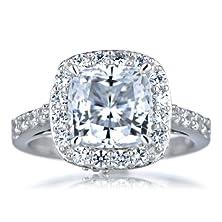 buy Sheera'S Cz Halo Cushion Cut Engagement Ring - 8Mm
