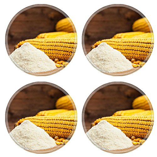 Luxlady Round Coasters IMAGE ID 30906652 Ingredients for the preparation of bread from corn flour healthy food (Polenta Machine compare prices)