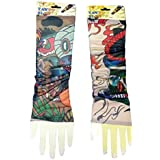 2 Pack Of High Quality Fun And Funky Nylson Stretch Cloth Fancy Dress Costume Fake Arm Art Tattoo Sleeves
