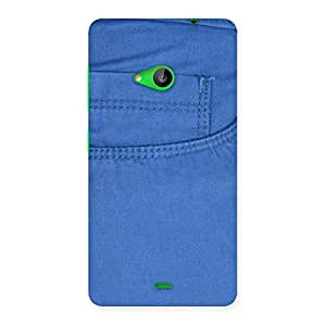 Impressive Blue Jeans Back Case Cover for Lumia 535