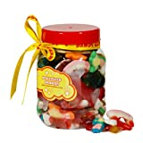 Halloween Horrors Skulls, Bones and Scary Sweets Selection Gift Jar (Small 750ml)