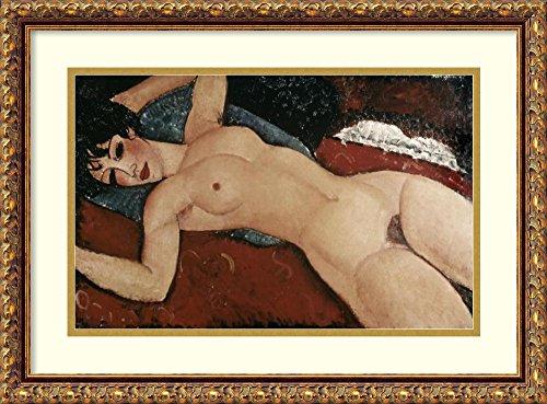 Framed Art Print 'Reclining Nude' by Amedeo Modigliani