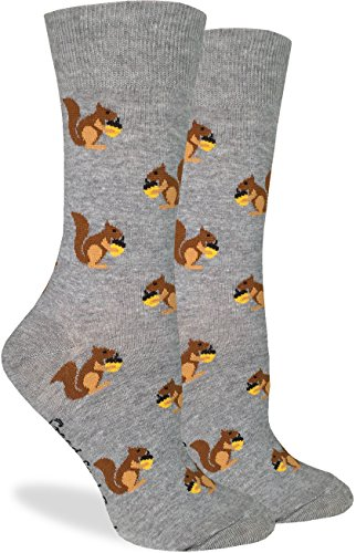 Good Luck Sock Women's Squirrels Crew Socks, Size5-9