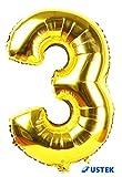 USTEK® Golden Number Foil Ballon for Parties