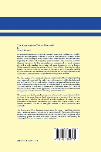 The Economics of Water Demands (Natural Resource Management and Policy)