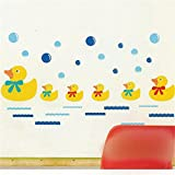 Alcoa Prime Removable Waterproof Wall Stickers Duck Bubble Bath Decor Wall Stickers Decorative Landscaping Gift