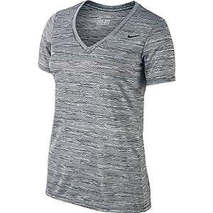 New Nike Women's Legend V-Neck Veneer Short-Sleeve Shirt