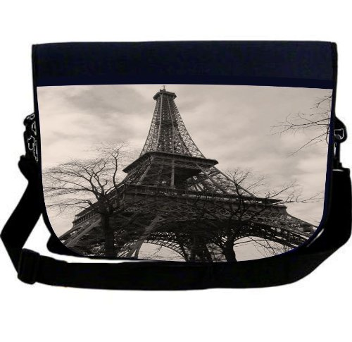 Rikki KnightTM Antique Eiffel Tower Neoprene Laptop Sleeve Bag Gofer Bag - Laptop Bag -Notebook Bag - for Macbook, Macbook Pro, Aspire, Samsung, Acer, ASUS, Dell, HP, Lenovo, Sony, Toshiba Unisex - Standard Gift for all occassions!