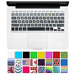 DHZ® Big Font Gray Gradient Keyboard Cover Silicone Skin for MacBook Air 13\