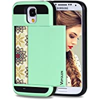 Galaxy S4 Case, Vofolen® Dual-Layer Shock Absorbent Galaxy S4 Wallet Case Snap-on Rugged Rubber Cover Bumper Soft...