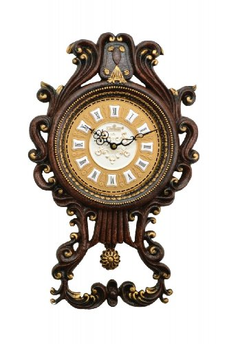 High Quality Antique Linseng 23X14 Wooden Pendulum Wall Clock ZP809-ITE