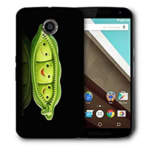 Snoogg Grren Peas Printed Protective Phone Back Case Cover For LG Google Nexus 6