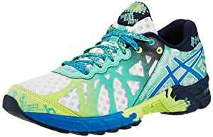 ASICS Women's Gel-Noosa Tri 9 Running Shoe,White/Electric Blue/Mint,6.5 M US