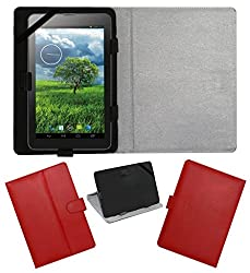 Acm Leather Flip Flap Carry Case For Verico Lm-Udp09a Unipad Tablet Holder Stand Cover Red