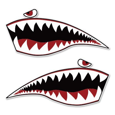 Warhawk Shark Tiger Vinyl Sticker - Car Window Bumper Laptop - SELECT SIZE (Ski Company Stickers compare prices)