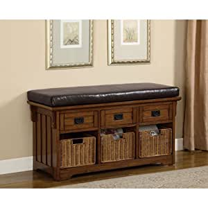 Coaster Small Storage Bench With Upholstered Seat Storage Bench Entryway Patio
