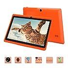 iRulu 4Th Generation Q8 7 Tablet - Quad Core 1024*600 Resolution Android 4.4 OS, 0.3MP/2.0MP Dual Camera 512MB-RAM/16GB-ROM ( Orange )