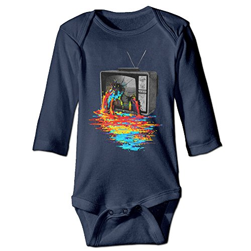 [DETED Pixel Overload Cute Boy & Girl Infants Romper Climb Clothes Size24 Months Navy] (Racer Girl Romper Costumes)